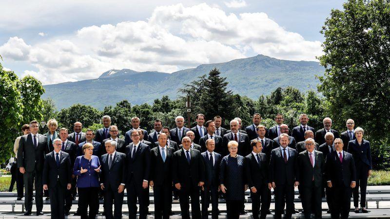Uczestnicy szczytu w Sofii, źródło: European Council