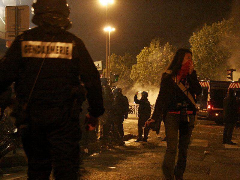 Zamieszki w Paryżu, źródło: Flickr/fot. Mikael Marguerie