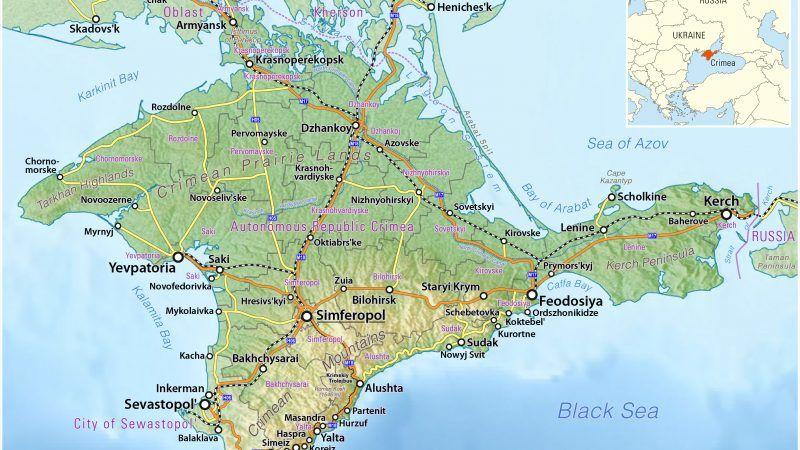 Półwysep Krymski, źródło: Wikipedia/Maximilian Dörrbecker (Chumwa)