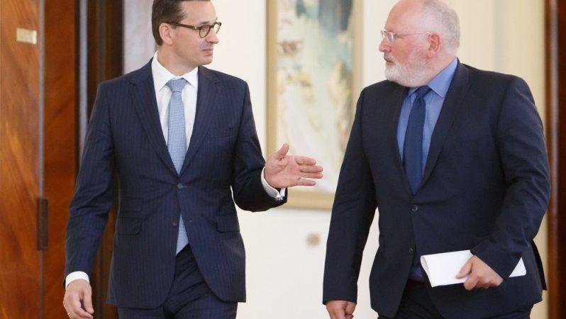 Premier Mateusz Morawieckii wiceszef KE Frans Timmermans w Warszawie, czerwiec`18, źródło KPRM