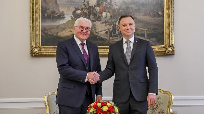 Prezydenci Polski i Niemiec Andrzej Duda i Frank-Walter Steinmeier w Warszawie, źródło KPRP