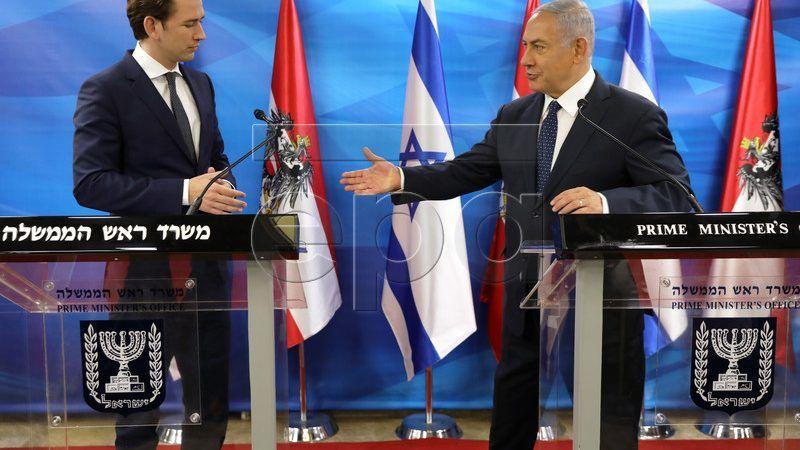 Sebastian Kurz i Benjamin Netanjahu, źródło: https://www.epa.eu/politics-photos/diplomacy-photos/austrian-chancellor-sebastian-kurz-visits-photos-54399641