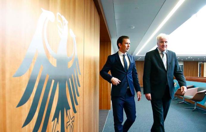 Sebastian Kurz i Horst Seehofer, źródło: Oficjalny profil kanclerza Austrii na Facebooku
