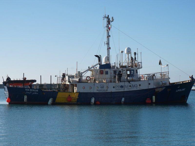"""Statek """"Lifeline"""", źródło: www.mission-lifeline.de"""