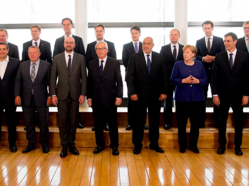 Uczestnicy miniszczytu w Brukseli nt. migracji, źródło: EC Audiovisual Services
