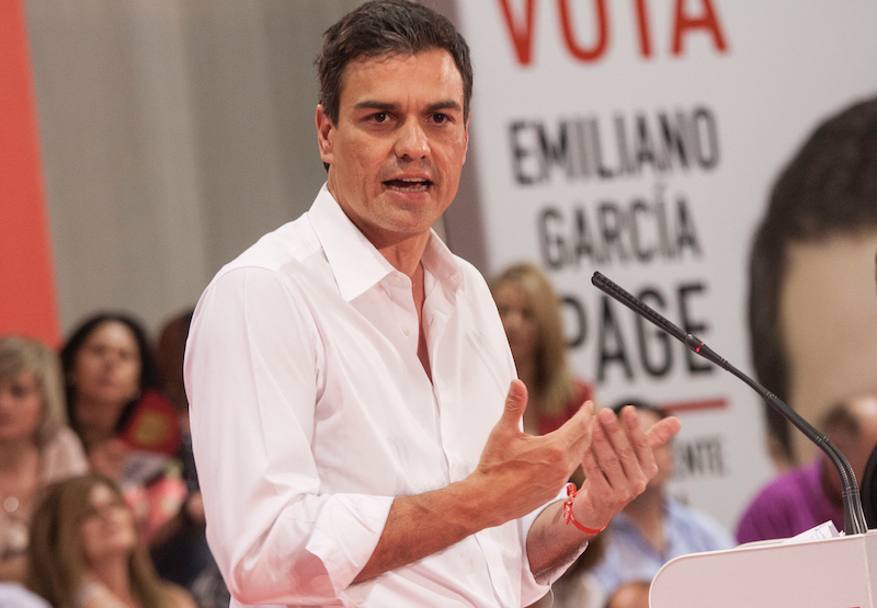Pedro Sánchez, źródło: Flickr, fot. Emiliano García-Page Sánchez