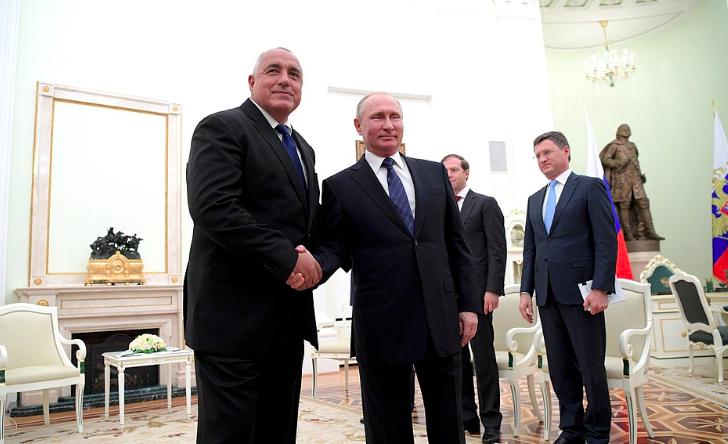 Premier Bułgarii Bojko Borisow oraz prezydent Rosji Władimir Putin podczas ostatniego spotkania na Kremlu, źródło: kremlin.ru