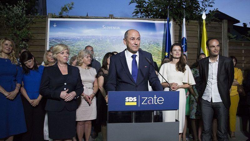 wybory w Słowenii `2018- Janez Jansa, źródło twitter SDS