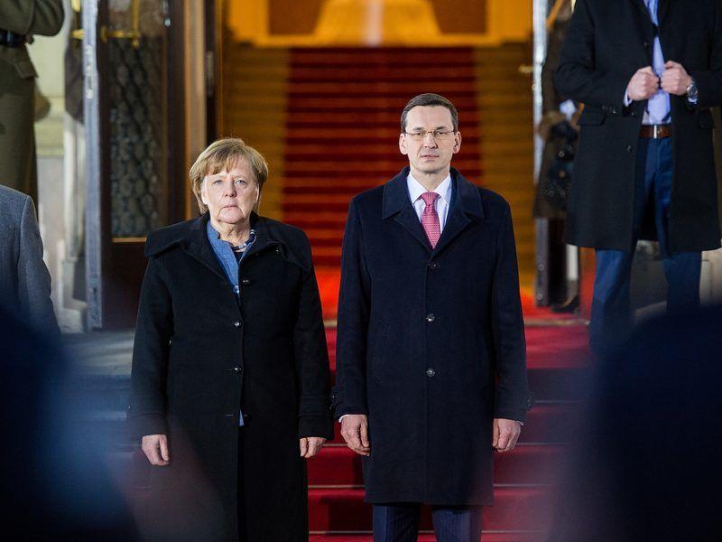 Angela Merkel i Mateusz Morawiecki, źródło: KPRM, fot. W.Kompała