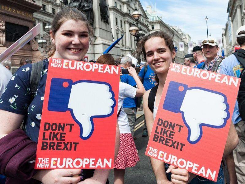 Demonstracja przeciwników brexitu w Londynie 23 czerwca 2018 r., źródło: Gazeta Wyborcza