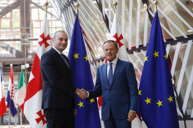 Zarówno Tbilisi jak i Bruksela muszą nadać relacjom Gruzja - UE jeszcze większej dynamiki. Źródło: Rada Europejska