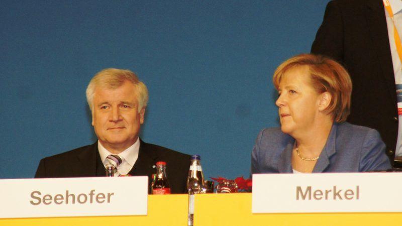 Horst Seehofer i Angela Merkel, źródło: Flickr/fot, Michael Panse
