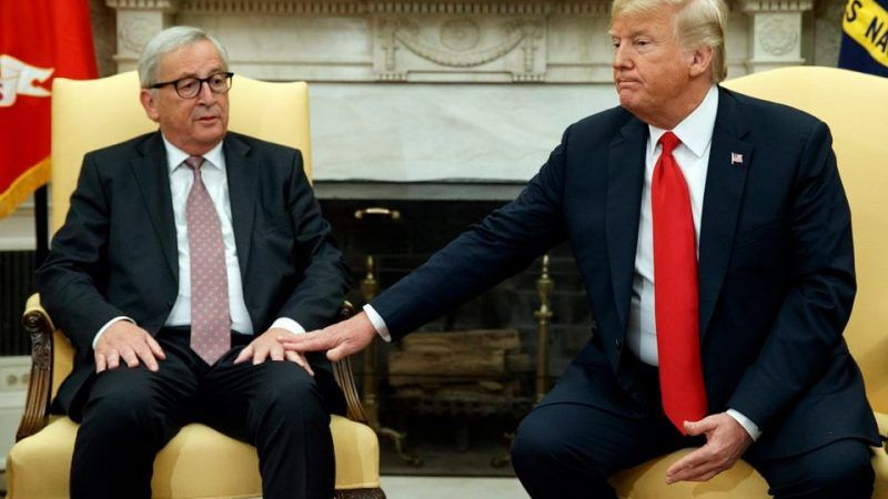 Jean-Claude Juncker i Donald Trump, źródło: Gazeta Wyborcza