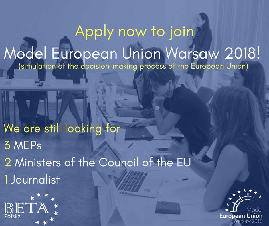 Model European Union Warsaw 2018 - Apply to join!