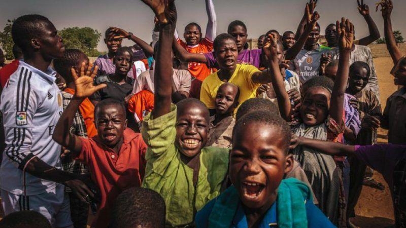 Nigeria. Po meczu piłkarskim. Źródło - IOM