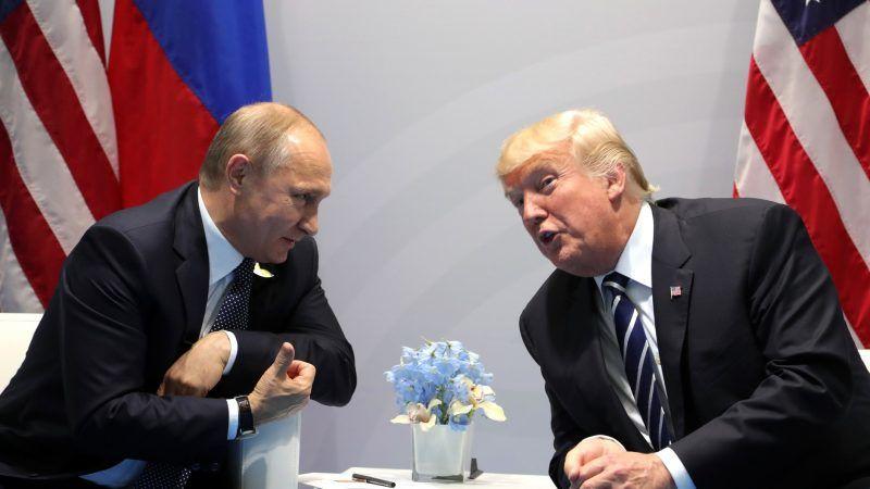 Oficjalne spotkanie Władimira Putin i Donalda Trumpa w Hamburgu w lipcu 2017 r., źródło: kremlin.ru