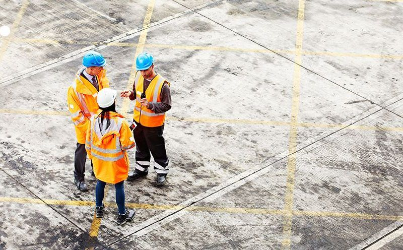 Pracownicy budowy. Źródło - Komisja Europejska