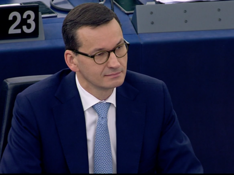 Premier Mateusz Morawiecki w Parlamencie Europejskim, źródło: ec.europa.eu/avservices