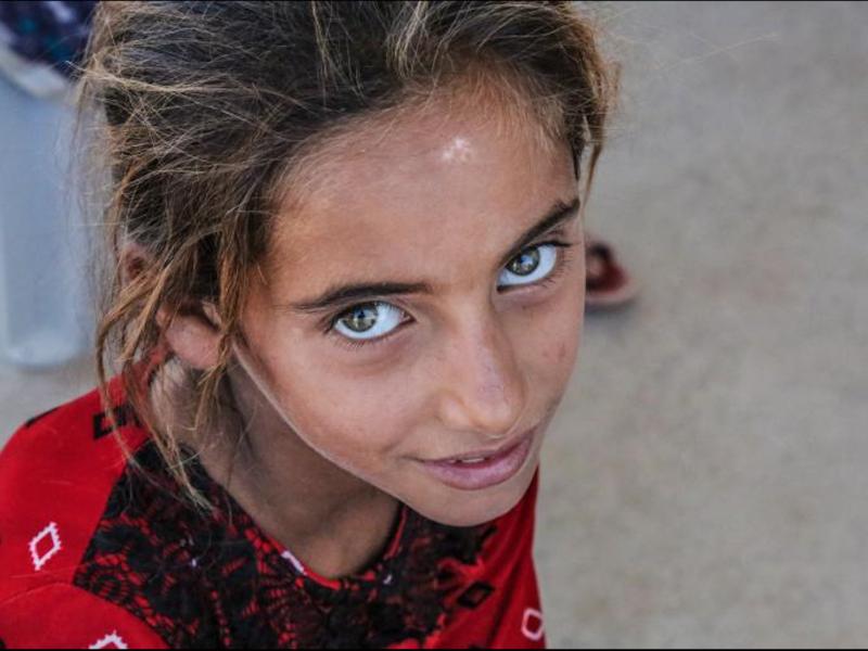 Uchodźcy - Safaa, 9-letnia Irakijka. Źródło - IOM