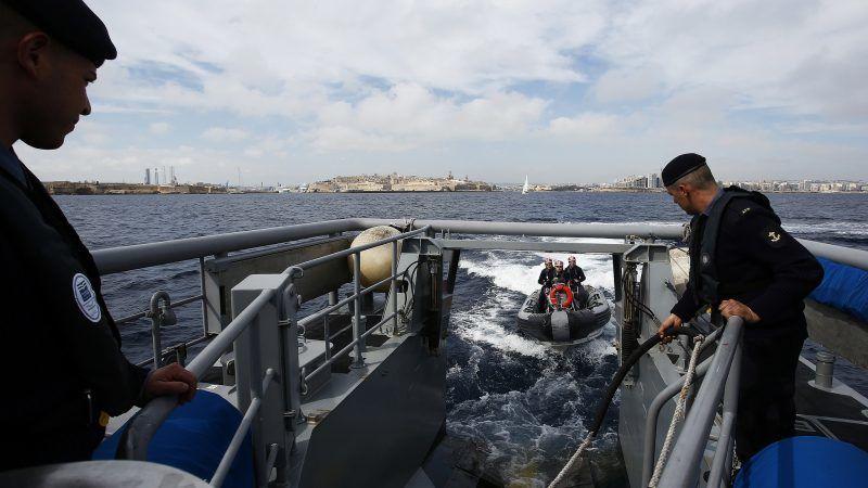 Statek Frontexu u wybrzeży Malty, źródło: Flickr/Bundesministerium für Europa, Integration und Äußeres