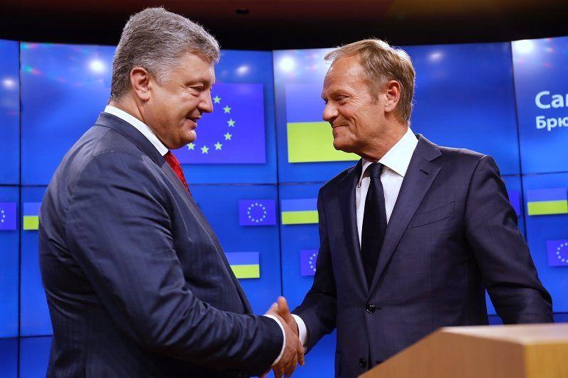 Szef Rady Europejskiej Donald Tusk i prezydent Ukrainy Petro Poroszenko, źródło consilium