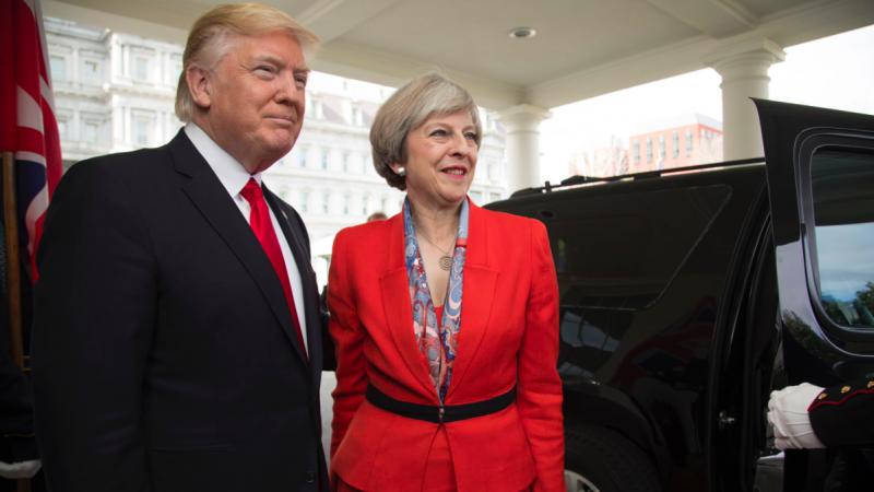 Donald Trump i Theresa May, źródło: Biały Dom