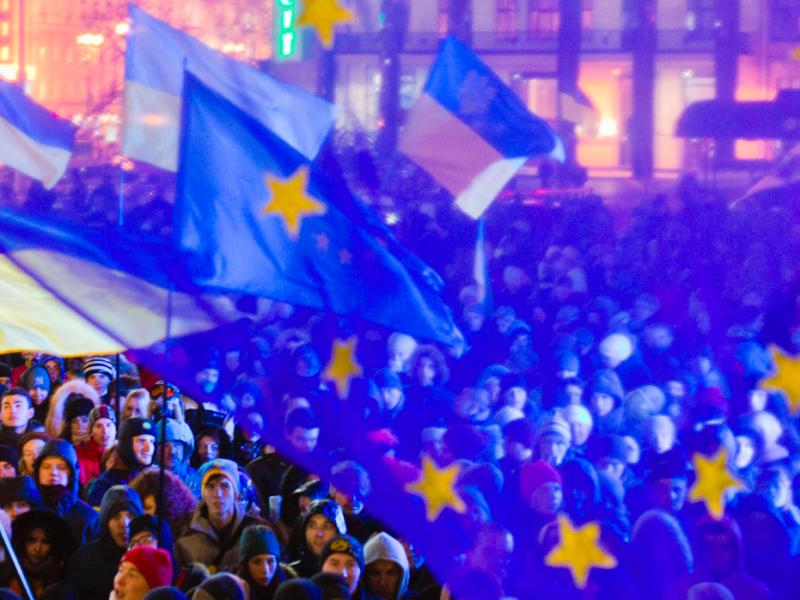 Proeuropejska manifestacja w Kijowie, źródło: Wikipedia, fot. Evgeny Feldman
