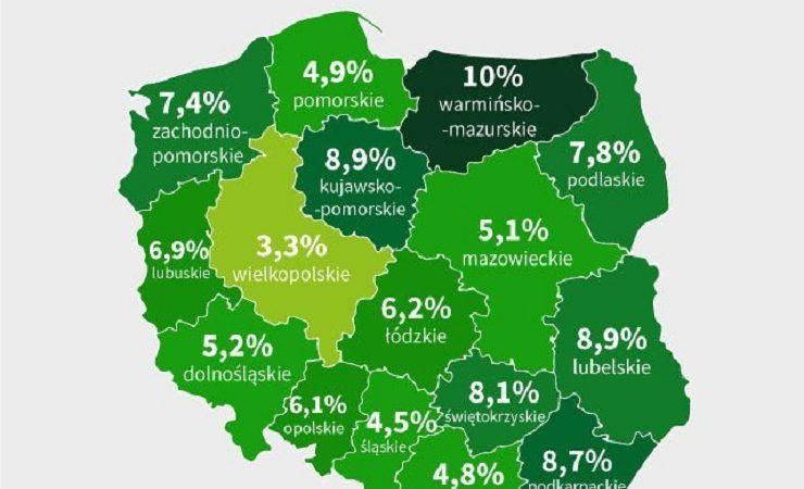 bezrobocie w Polsce, czerwiec`18, źródło twitter