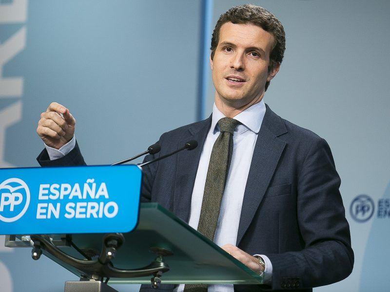Lider Partii Ludowej Pablo Casado, źródło: Flickr/Partido Popular PP
