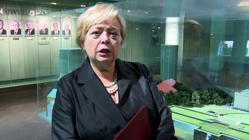 I prezes SN Małgorzata Gersdorf, źródło youtube
