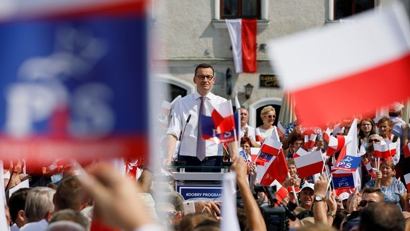 Premier Mateusz Morawiecki w Sandomierzu, źródło twitter.com pisorgpl