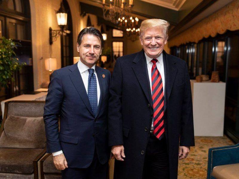 Premier Włoch Giuseppe Conte oraz prezydent USA Donald Trump, źródło: Biały Dom, fot. Shealah Craighead