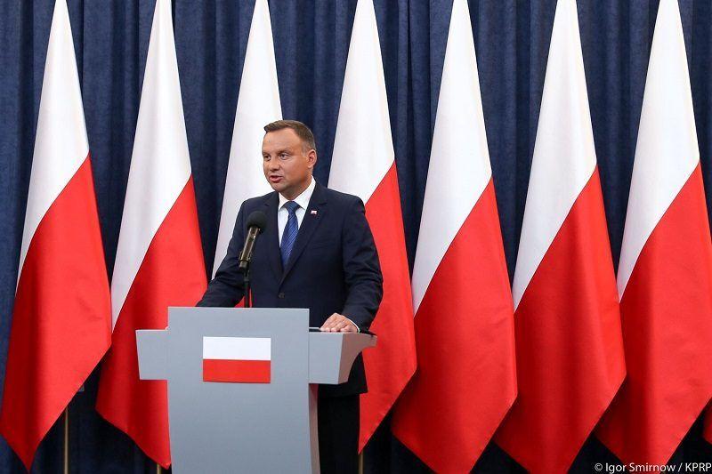 Prezydent Andrzej Duda ws. weta nowelizacji ordynacji do PE, źródło Igor Smirnow KPRP