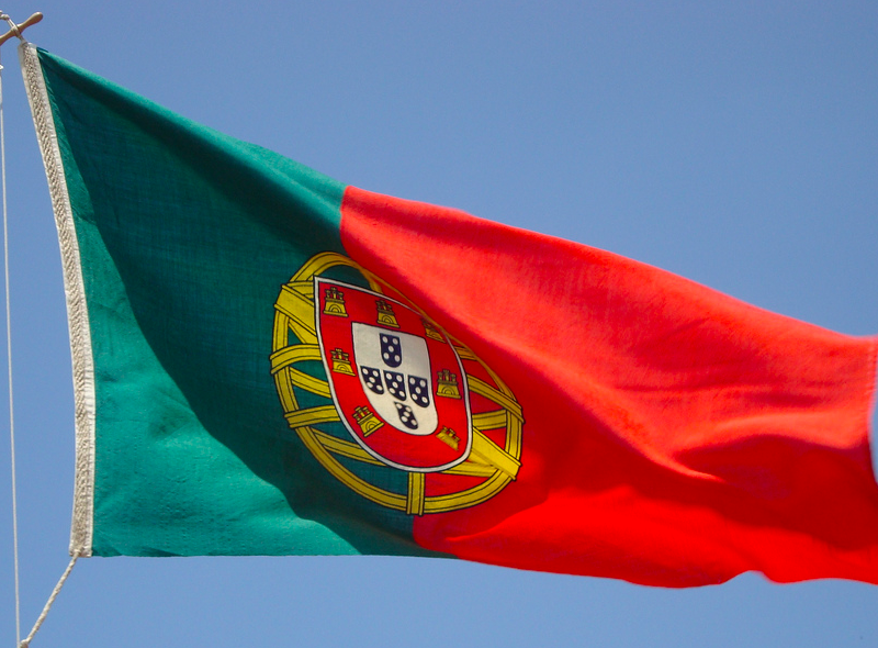 Flaga Portugalii, źródło: Flickr, fot. Fredrik Rubensson