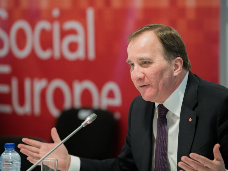 Premier Szwecji Stefan Loefven, źródło: Flickr/PES Communications