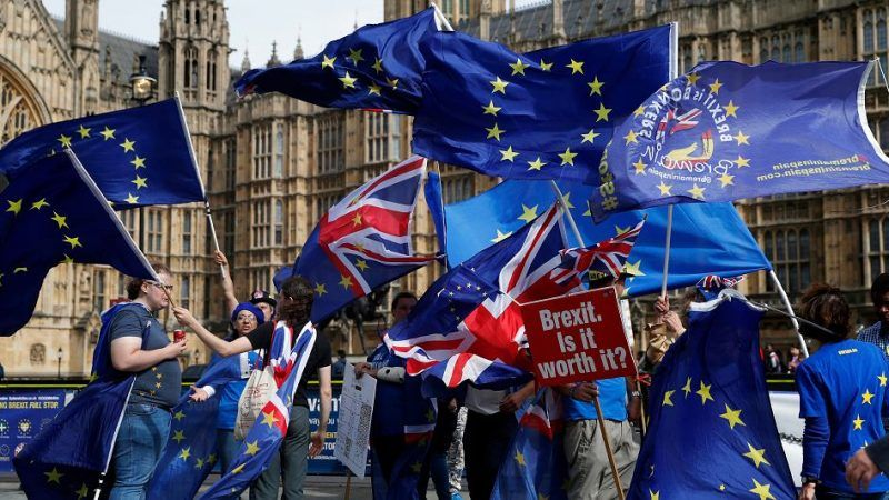 Demonstracja przeciwników brexitu, źródło: Gazeta Wyborcza