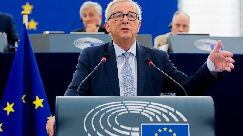 Jean-Claude Juncker podczas Orędzia o Stanie Unii #SOTEU2018. Źródło - Komisja Europejska