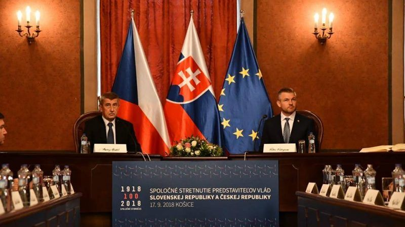 Premier Czech Andrej Babisz i premier Słowacji Peter Pellegrini, źródło: Facebook/Peter Pellegrini
