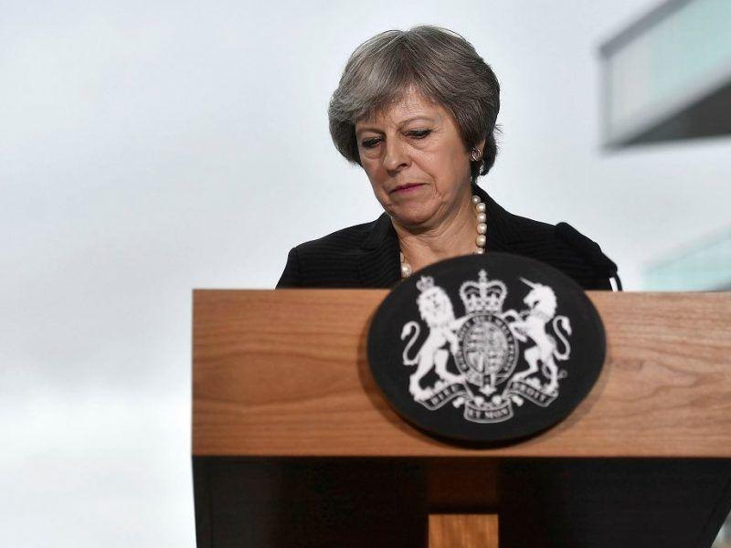 Premier Theresa May, źródło: https://wyborcza.pl/7,75399,23857715,brexit-urzednicy-ktorzy-mieli-wyprowadzic-brytyjczykow-z-ue.html