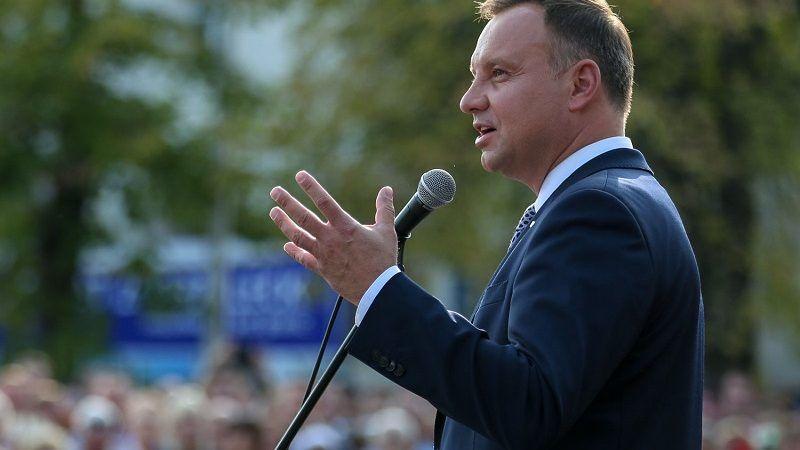 Prezydent Andrzej Duda - wystąpienie w czasie kampanii wyborczej w Zgorzelcu