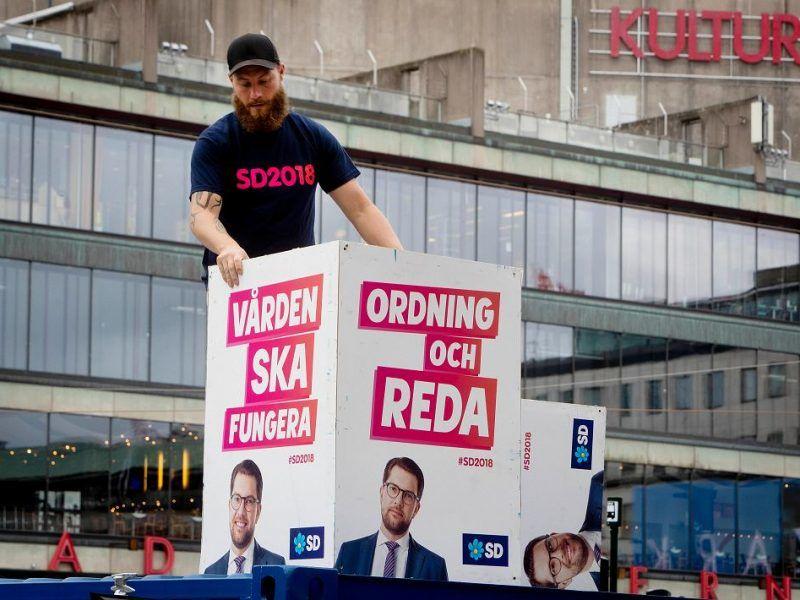 Przygotowania do wyborów parlamentarnych w Szwecji, źródło: Gazeta Wyborcza