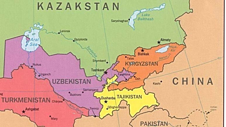 Uzbekistan i Tadżykistan, źródło: Wikimedia