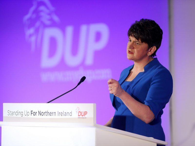 Przewodnicząca Demokratycznej Partii Unionistycznej (DUP) Arlene Foster, źródło: Flickr/DUP Photos, fot. Kevin Boyes/Press Eye