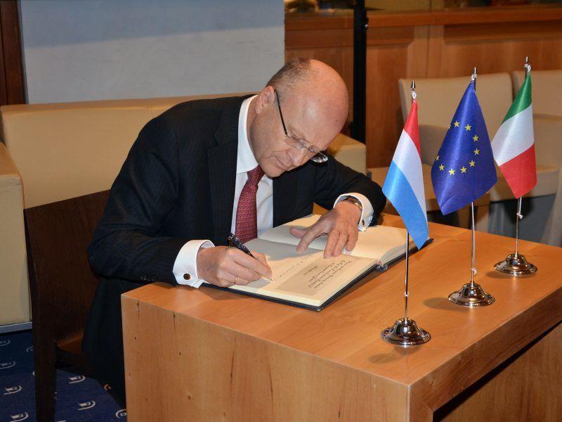 Prezes Trybunału Sprawiedliwości UE Koen Lenaerts, źródło: Flickr/European University Institute