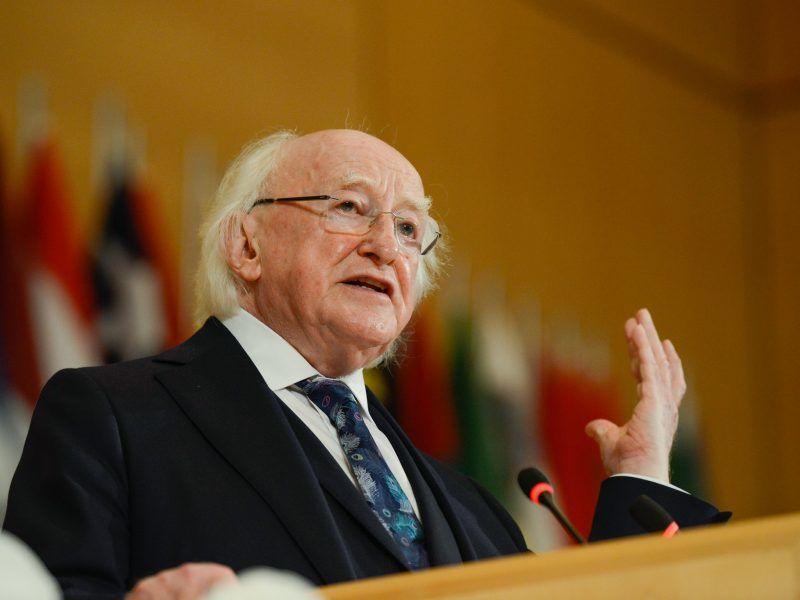 Prezydent Irlandii Michael D. Higgins, źródło: Flickr/© Crozet / Pouteau / Albouy / ILO