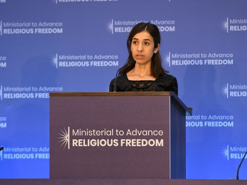 Nadia Murad, źrodło: Flickr/U.S. Department of State