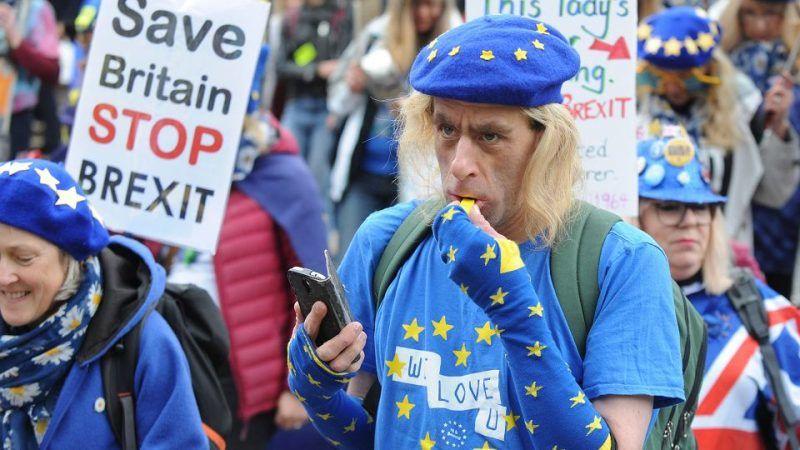 Demonstracja przeciwników brexitu w Birmingham, 30.09.2018 r., źródło: Gazeta Wyborcza