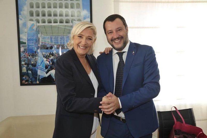Marine Le Pen i Matteo Salvini w Rzymie, źródło: facebook.com/MarineLePen/photos