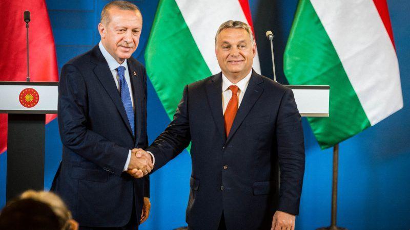 Premier Węgier Viktor Orban i Prezydent Turcji Recep Tayyip Erdogan
