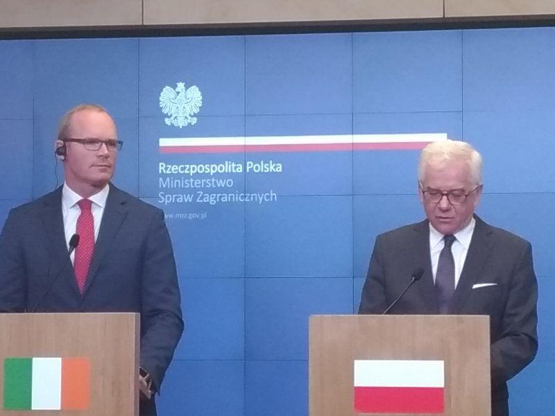 Ministrowie Spraw Zagranicznych Polski i Irlandii Jacek Czaputowicz i Simon Coveney.